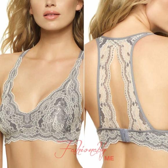 aa5f288ec347d6 Felina Ladies  Lace Bralette Grey